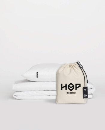 Pościel HOP DESIGN - czysta bawełna - biała