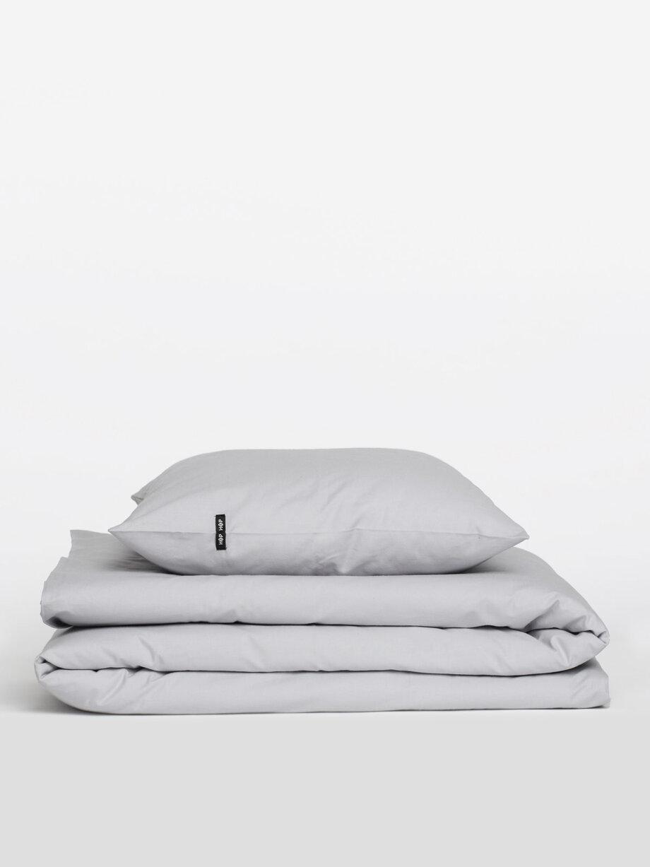 Pościel HOP DESIGN - czysta bawełna - jasna szara
