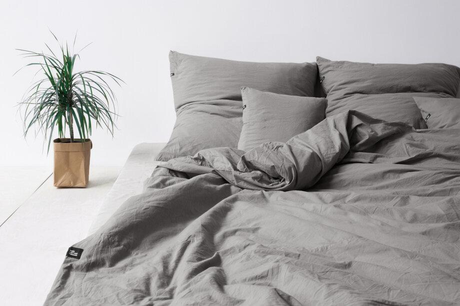 Pościel HOP DESIGN - czysta bawełna - ciemna szara