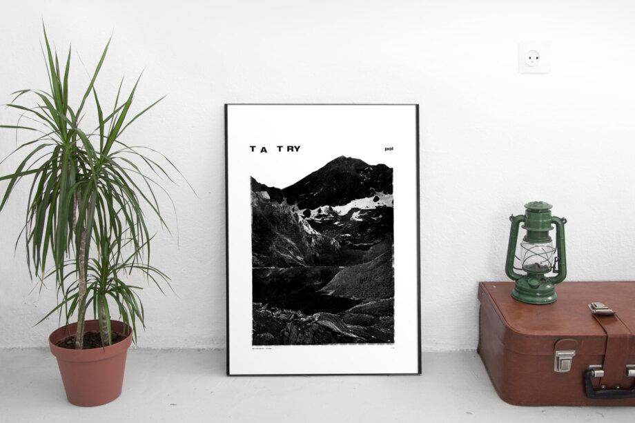 Plakat HOP DESIGN - TATRY (projekt: Bartek Bojarczuk)