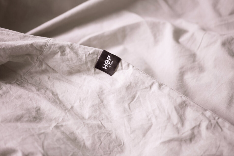 Pościel HOP DESIGN - czysta bawełna płótno - brudny róż