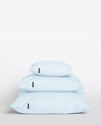 2 x Poszewka na poduszkę - czysta bawełna - pastelowy błękit