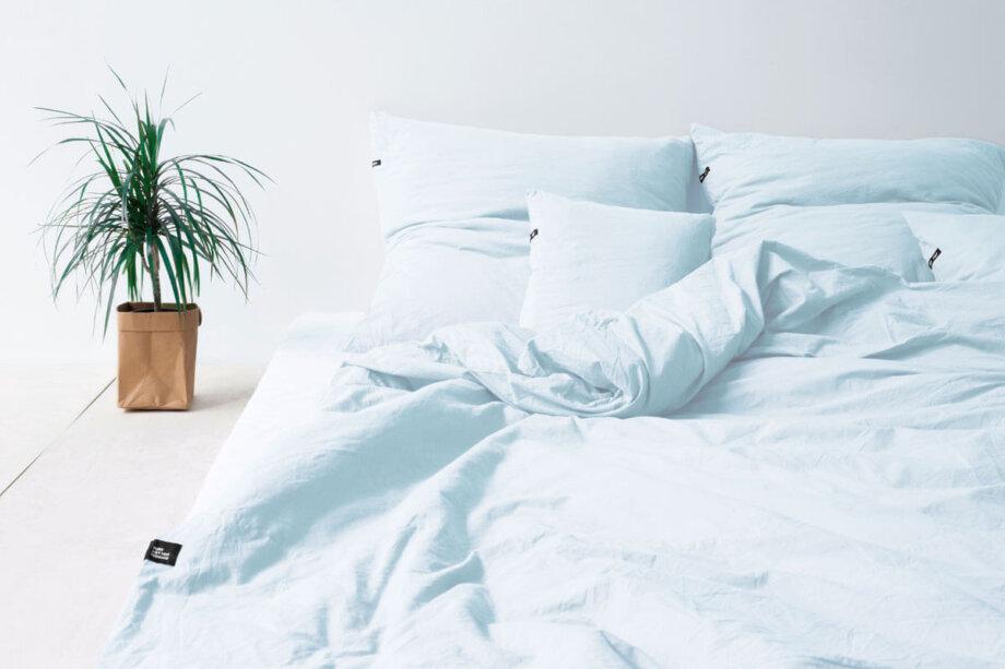 Pościel HOP DESIGN - czysta bawełna - pastelowy błękit