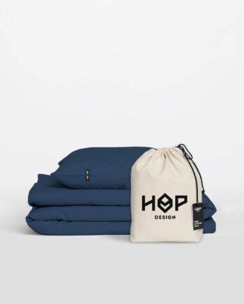 Pościel HOP DESIGN - czysta bawełna - przygaszony granat
