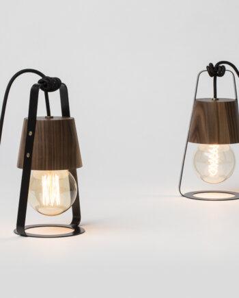 hop design latarnia lampa orzech