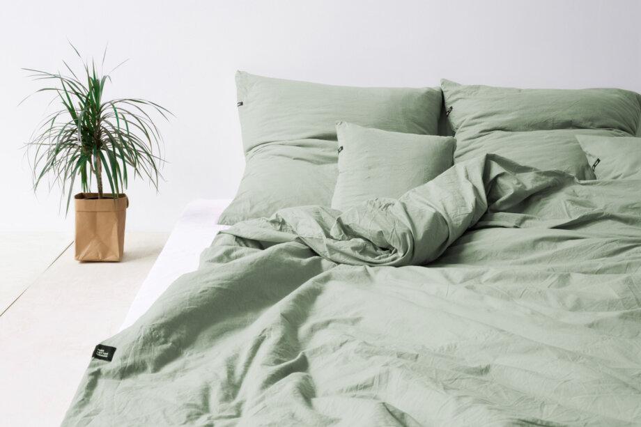 Prześcieradło z czystej bawełny PURE - szałwiowa zieleń