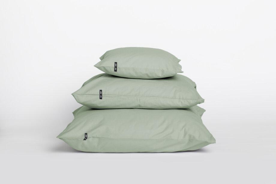 2 x Poszewka na poduszkę - czysta bawełna - szałwiowa zieleń