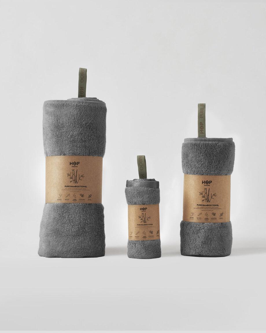 Ręczniki bambusowe szare
