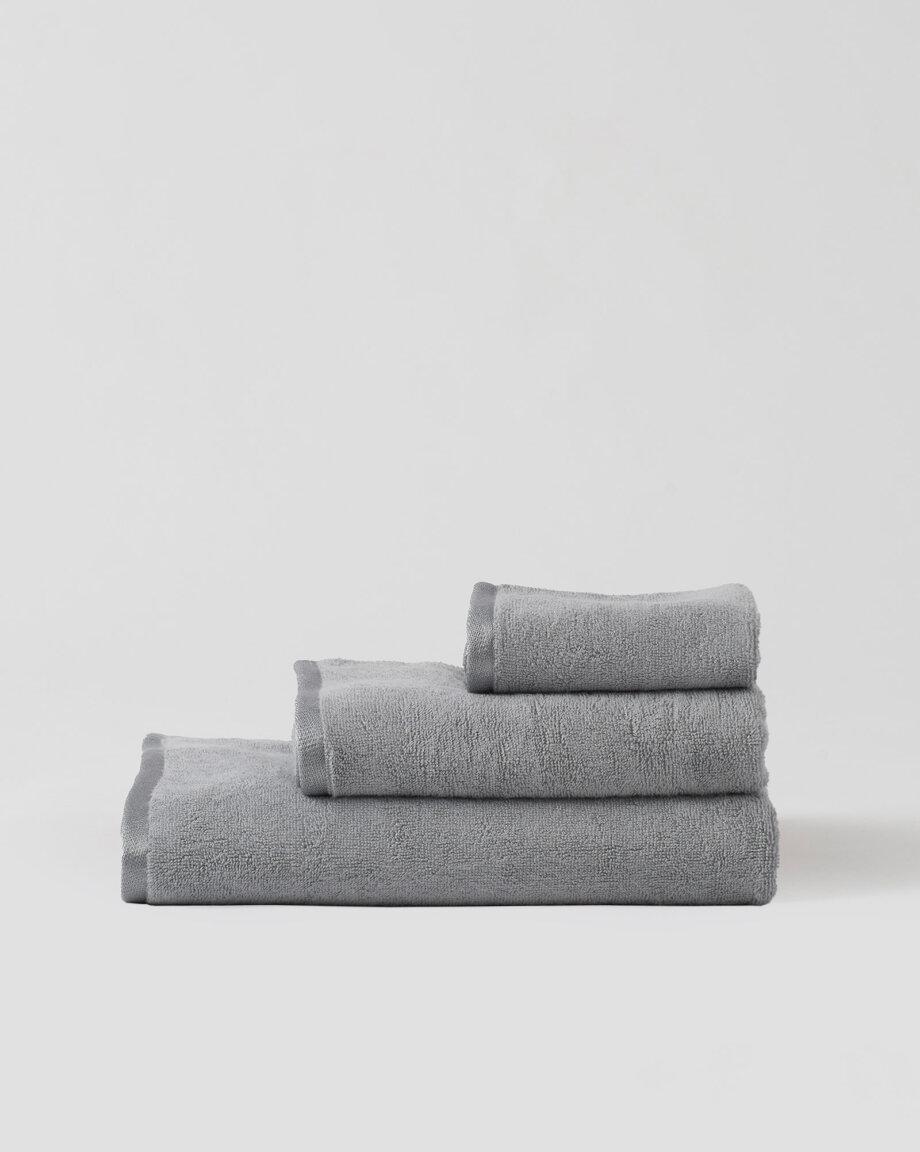 Ręczniki bambusowe jasnoszare