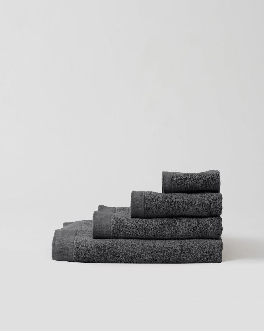 Ręczniki bawełniane ciemnoszare