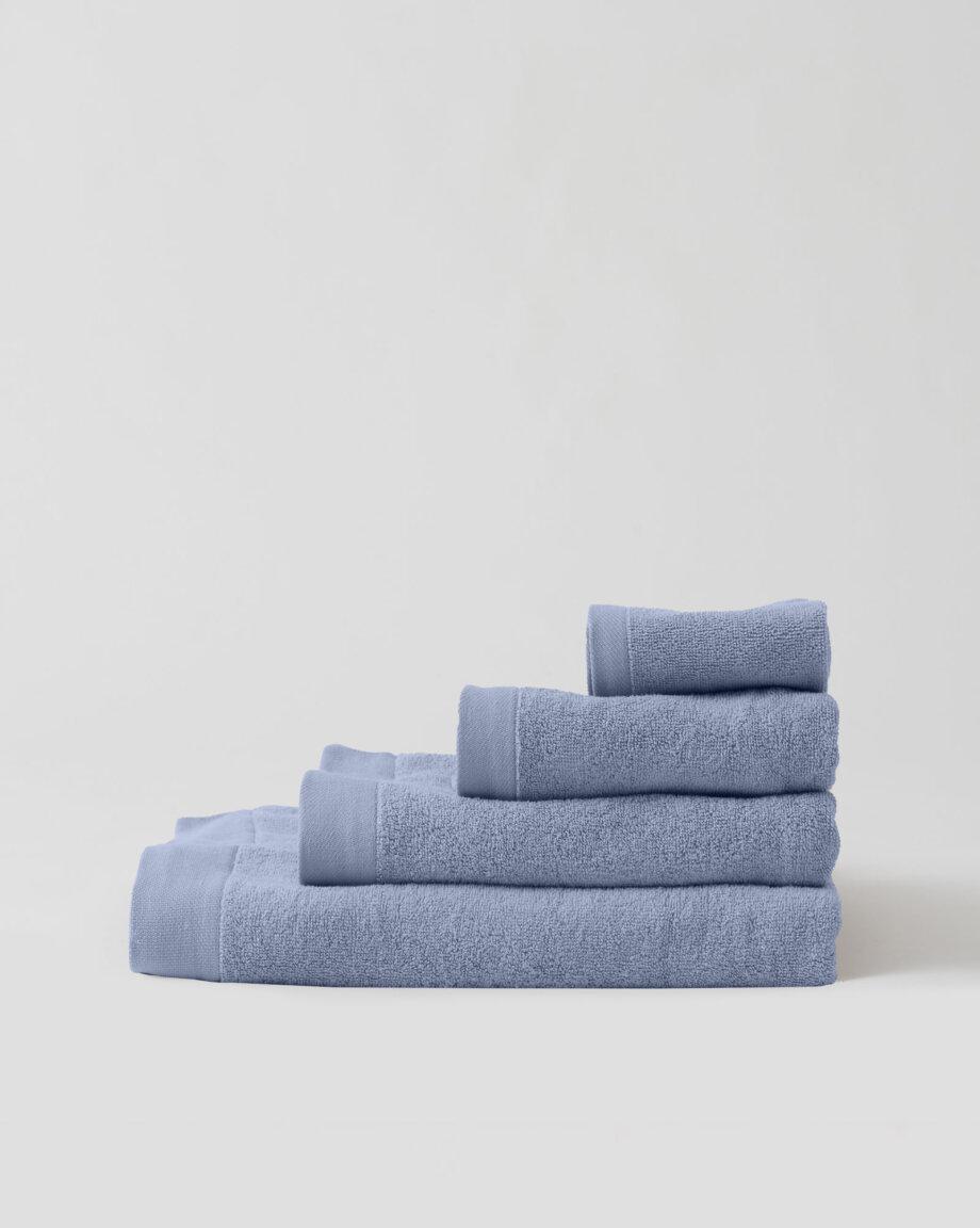 Ręczniki bawełniane błękitne
