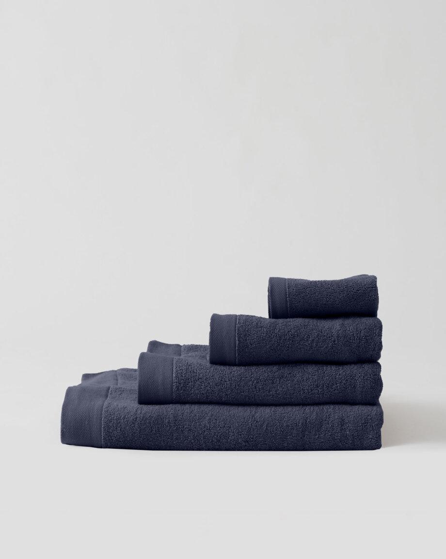 Ręczniki bawełniane granatowe